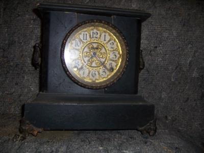 Black Antique Mantel Clock