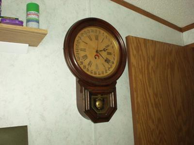 E. Ingraham Schoolhouse Clock