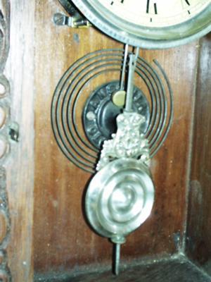 Ansonia Clock's gong and pendulum