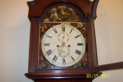 Tall clock's dial