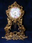 Brass clock front