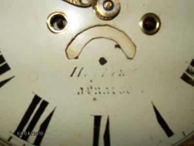 Tall Clock Dial Closeup
