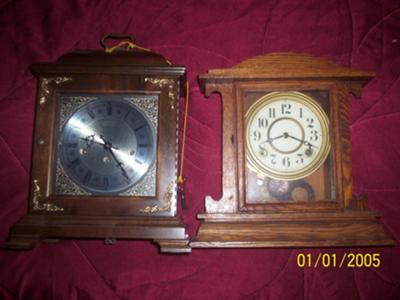 My 2 Mantel Clocks
