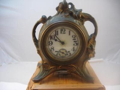 1902 bronze clock