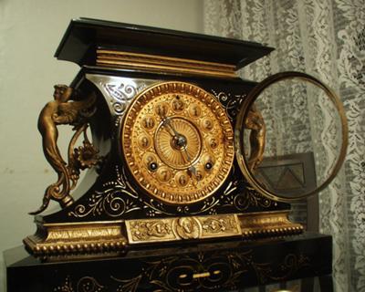 Ansonia iron mantle clock 1800's