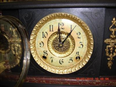 Antique Mantel Clocks >> 1880's Ingraham 8 day mantle clock