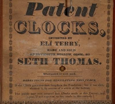Pre-1865 Seth Thomas Label