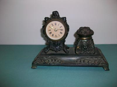 Antique German Metal Clock