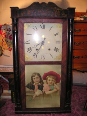 Antique Wood Works Clock