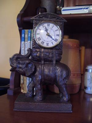Brass Figural Clock
