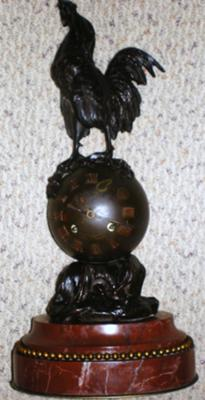 Bronze Rooster Clock
