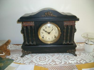 Sessions Black Mantel Clock