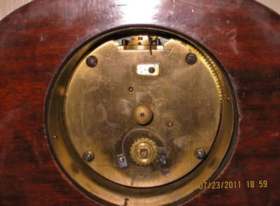 Back of clock