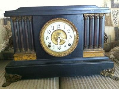Ingraham Black Mantel Clock