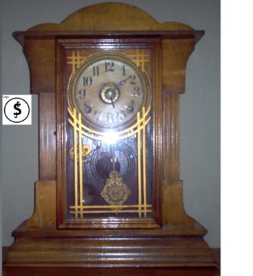 Mantel clock with logo