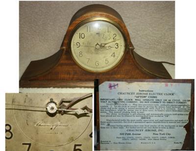 Electric Chauncey Jerome Mantel Clock
