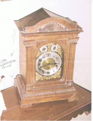 English Table Clock