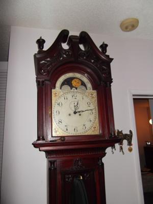 Grandfather clock top