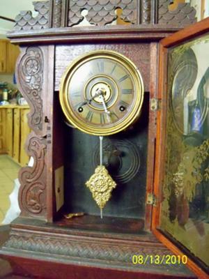 Welch clock with door open