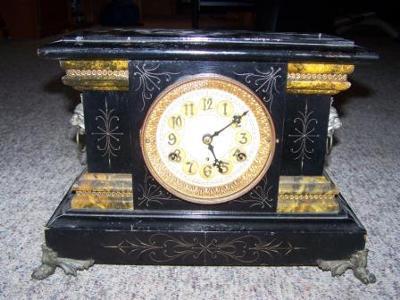 New Haven Black Mantel Clock