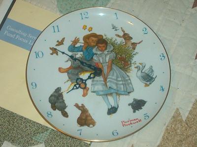 Norman Rockwell Clock