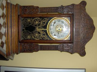 Front clock view